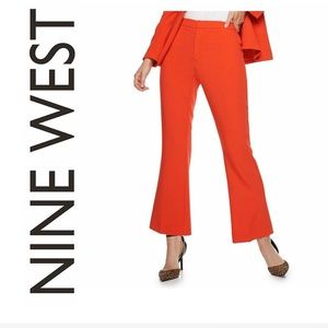 Women's Nine West Cropped Flare Ankle Suit Pants